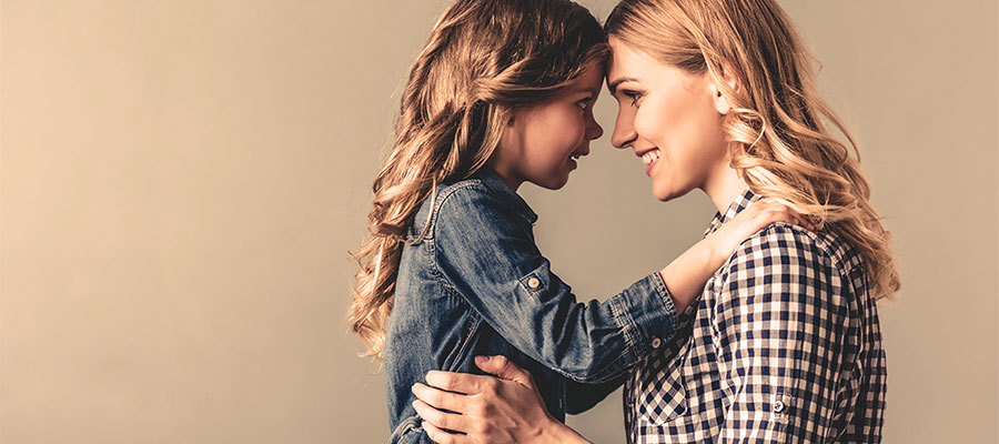 Mother and daughter enjoying alone time with each other